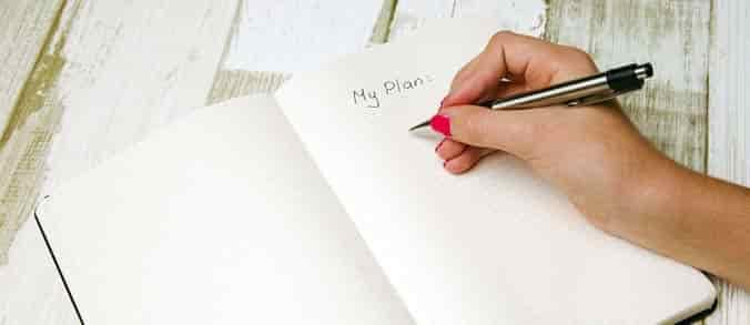 escribiendo un plan