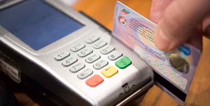 tarjeta de credito en POS
